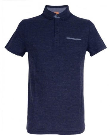 Hugo Boss Boss Orange Dark Blue 'Patcherman 1' Polo