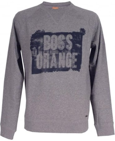 Boss Orange Light Grey 'Wheel 1' Sweatshirt