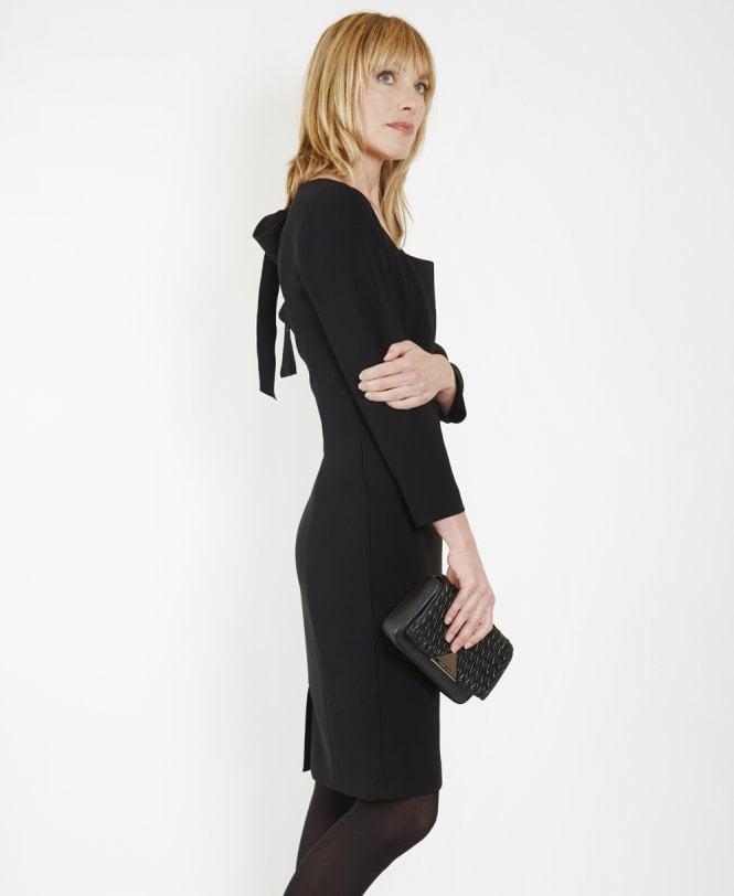 Bow Back Black Dress