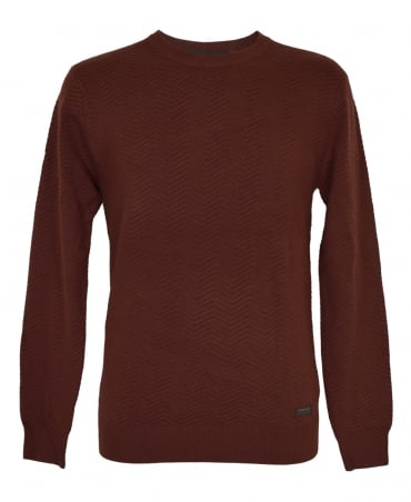 Scotch & Soda Brick Melange Cashmere Blend Jumper