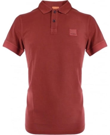 Hugo Boss Brick Red Slim Fit 50249531 'Pascha' Polo Shirt