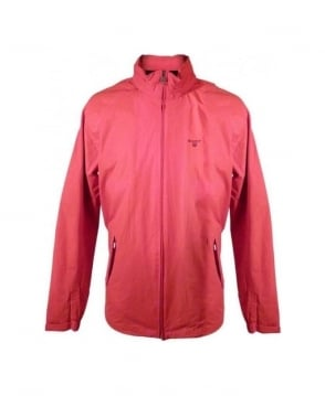 Gant Bright Red & Velcro Hood Wind Jacket