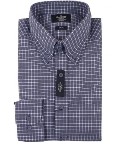 Hackett Brompton Indigo Check Shirt