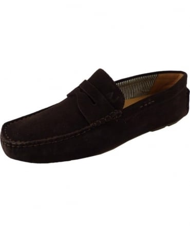 Armani Brown 06588551J7 Suede Loafer