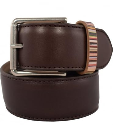 Paul Smith  Brown ASXC/4950/B590A With Signature Stripe Keeper Belt