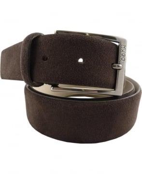 Hugo Brown C-Gabello 35mm Width Suede Belt