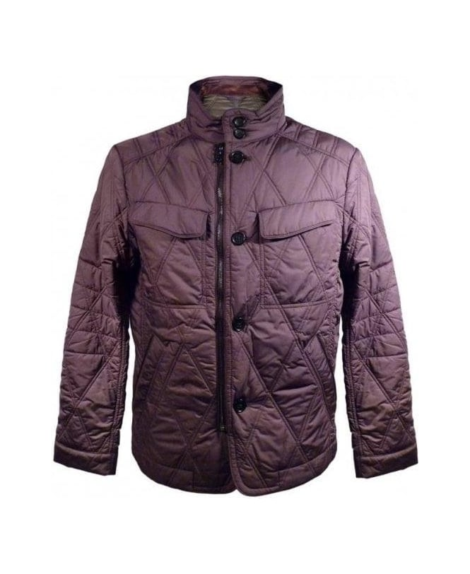 Hugo Boss Brown Camu Padded Coat