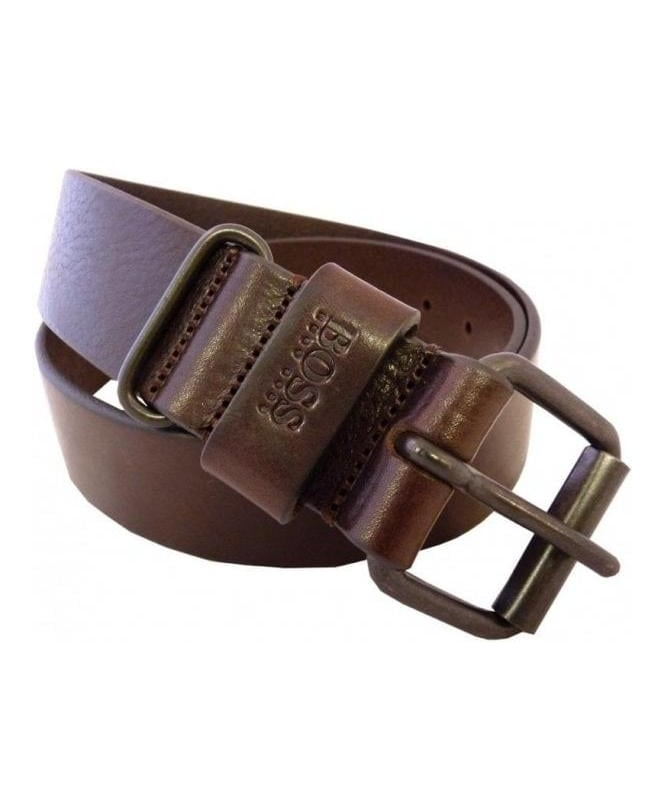 Hugo Boss Brown Charlino Leather Belt