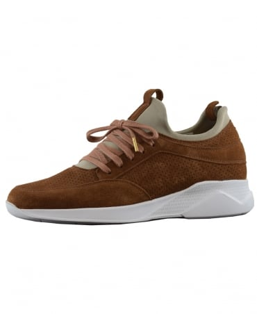 Brown Contrast Archway Trainer