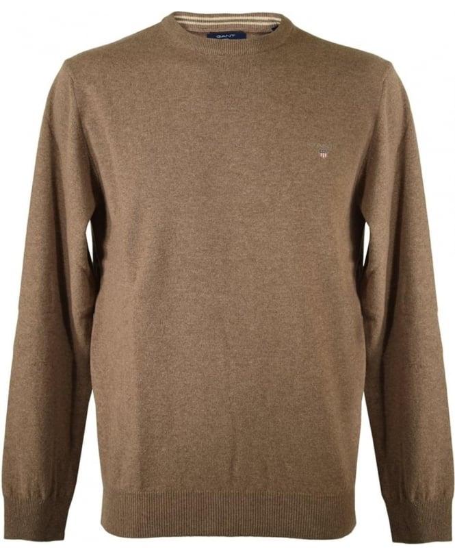 Gant Brown Crew Neck Knitwear Jumper