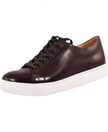 John White Brown 'Halcyon' Leather Trainer