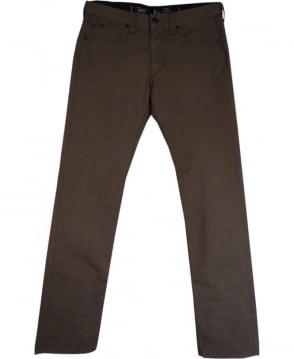 Armani Collezioni Brown JO6 Slim Fit Jeans