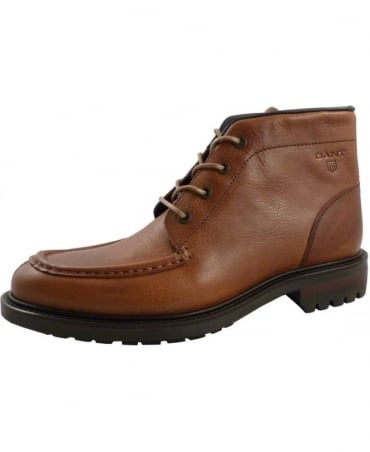 Gant Brown Jules Four Eyelet Lace Up Boot