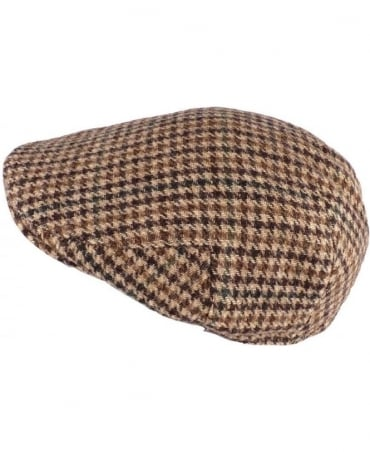 Brown Lafite Wool Flat Cap