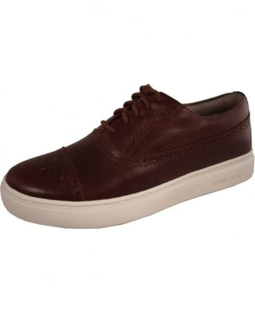 Brown Leather 'Fairey' Trainers