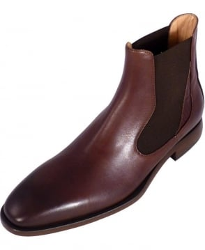 Oliver Sweeney Brown Leather Nuxis Chelsea Boots