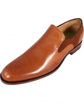 Oliver Sweeney Brown Leather & Suede Slip On Piva Shoes