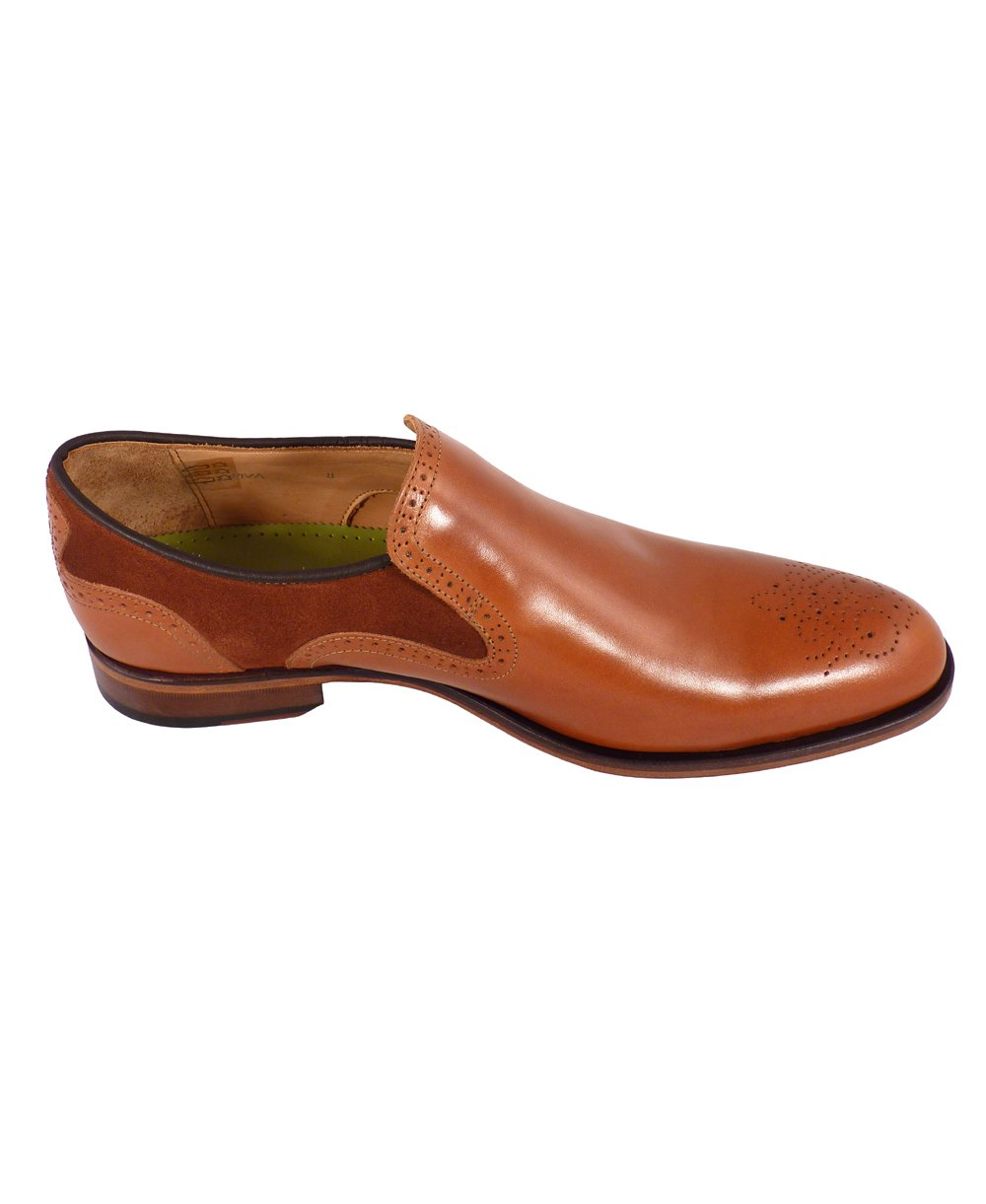 oliver sweeney brown leather suede slip on piva shoes