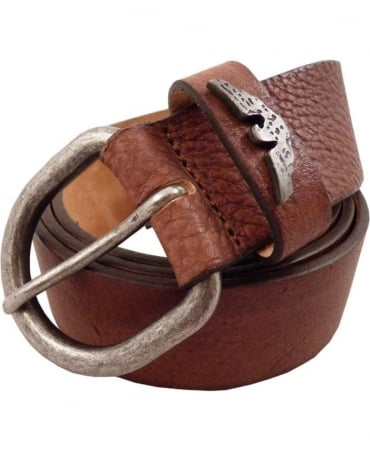 Brown Logo Tip Belt Z6158