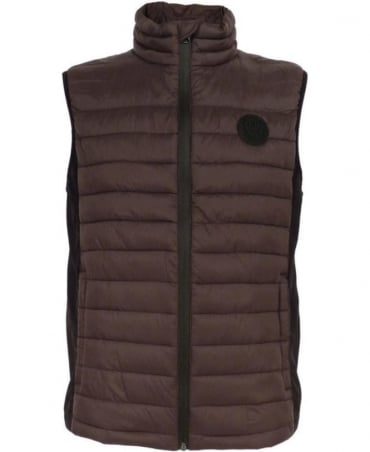 Replay Brown M8682 Contrast Insert Gilet