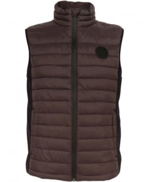 Replay Brown M8682 Duck Free Gillet