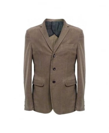 Hamaki-Ho Brown Moleskin Elbow Patch Blazer