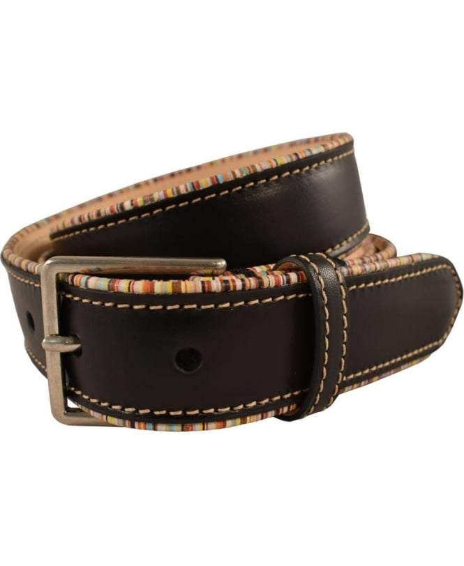 Paul Smith Brown 'Multi Pipe' B591A Belt