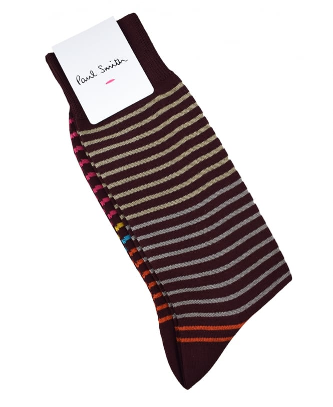 Paul Smith Brown Multi Stripe Cornelius ATXC/800E/K532 Socks