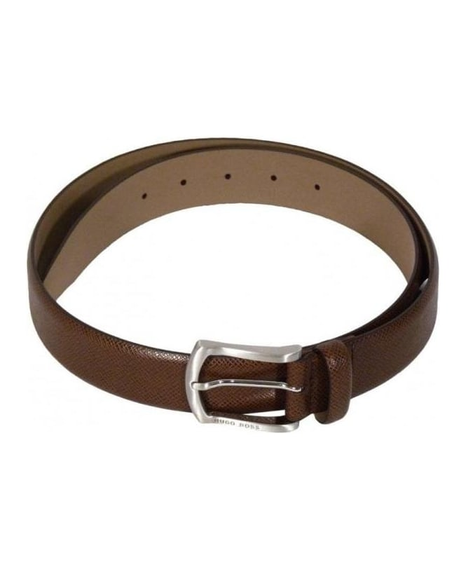 Hugo Boss Brown Pedri Leather Belt