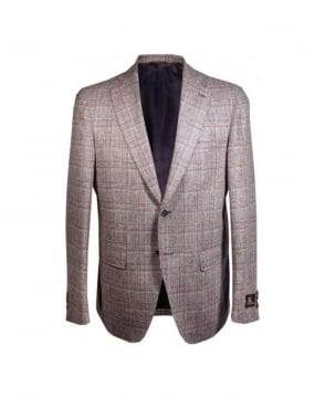 Acquaviva Brown & Red Check Jedosd Jacket