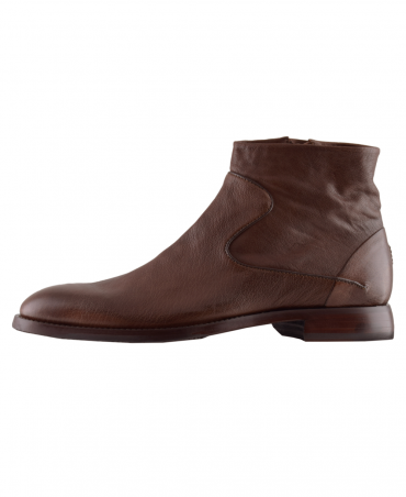 Brown Sillano Zip Up Boot