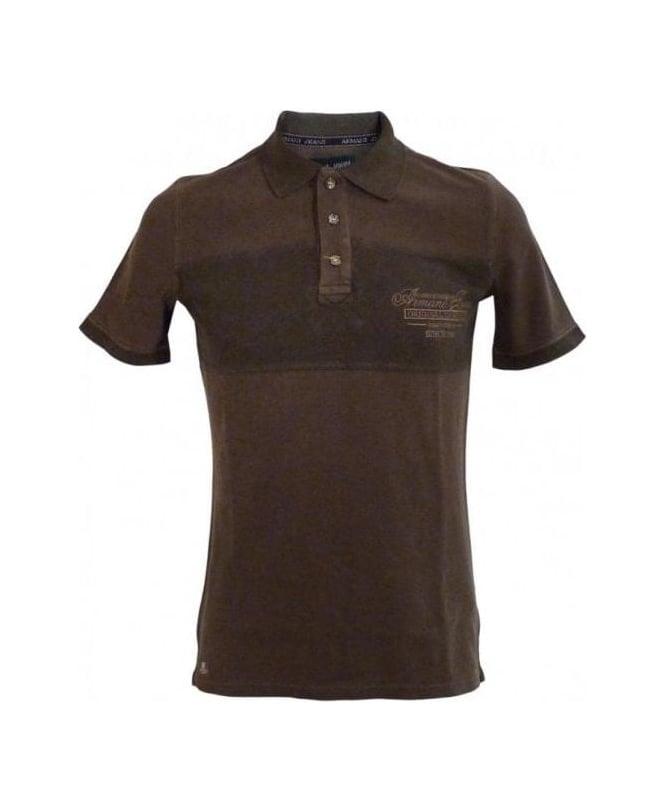 Armani Brown Slim Fit Polo