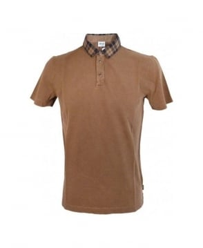 Armani Collezioni Brown Small Collar Polo