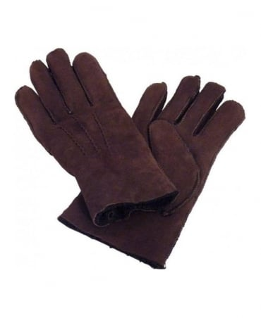 Hugo Boss Brown & Stitch Detail Gloves