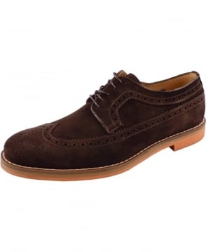 Gant Brown Suede Wingtip Oliver Brouge Shoe