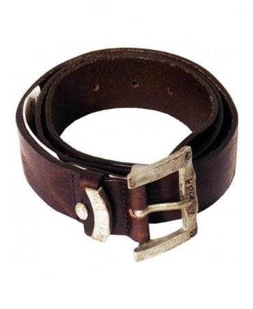 Replay Brown Worn Look Belt