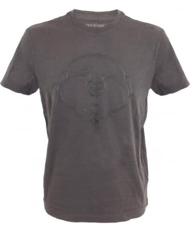 True Religion Buddha T-shirt In Charcoal