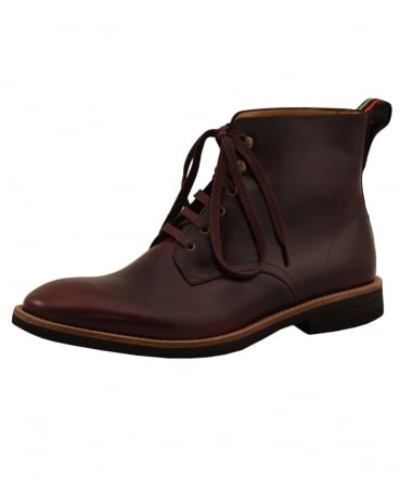 PS By Paul Smith Burgandy Hamilton Leather Boots