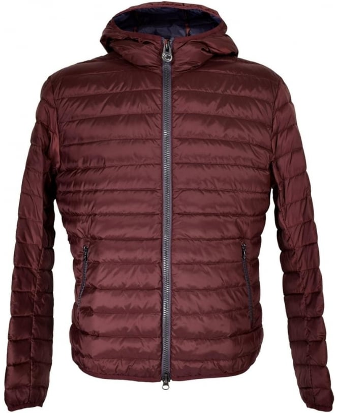 Colmar Originals Burgandy Quilted Lightweight Hooded Jacket