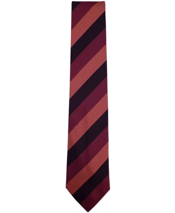 Paul Smith Burgundy Diagonal Stripe ANXA-552M-Y52 8cm Blade Tie