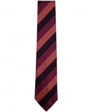 Paul Smith - Accessories Burgundy Diagonal Stripe ANXA-552M-Y52 8cm Blade Tie
