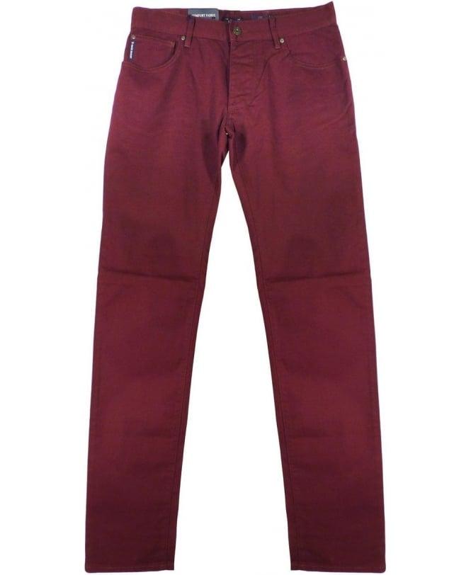 Armani Burgundy J28 Slim Fit Jeans