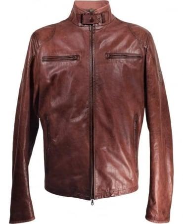 Matchless  Burgundy Osbourne Blouson Jacket