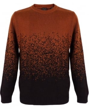 Paul Smith  Burnt Orange Graded Jacquard Sweater