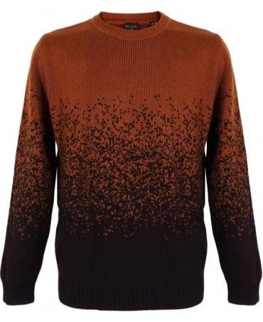 Paul Smith - PS Burnt Orange Graded Jacquard Sweater