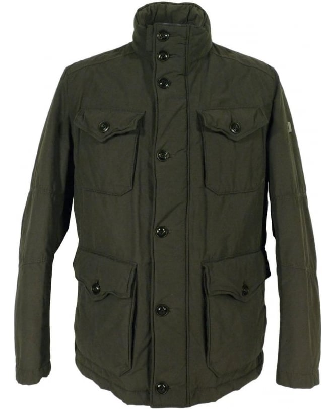 Hugo Boss 'C-Ole -W' Short Parka In Dark Green