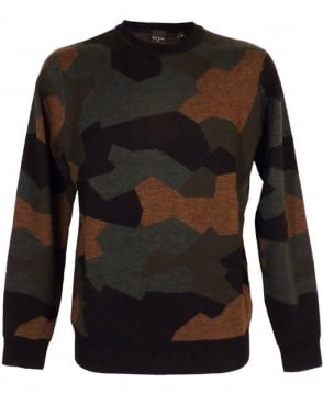 Paul Smith  Camouflage Round Neck Knitwear