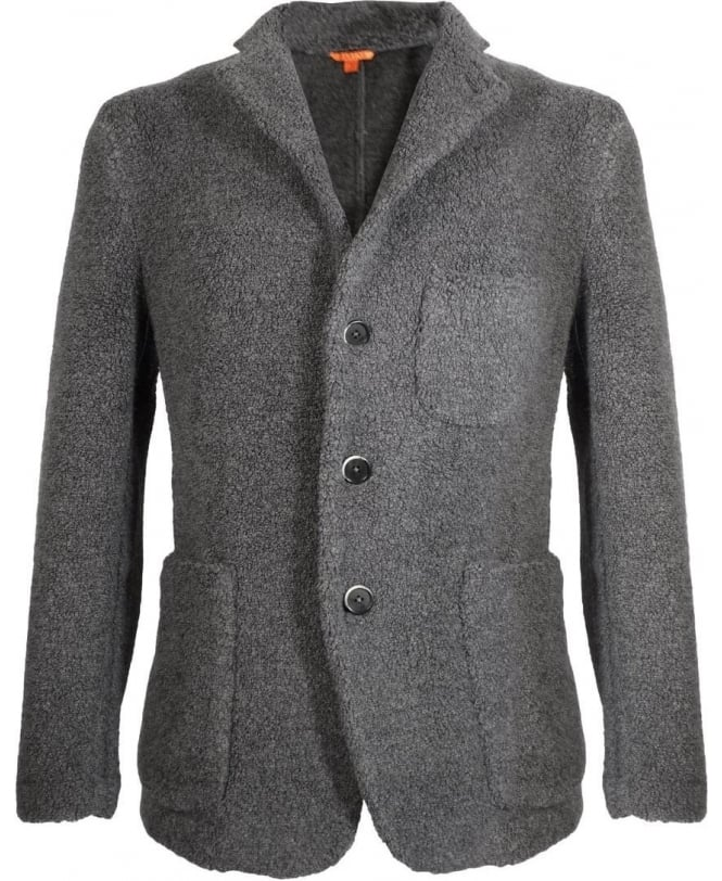 Barena Charcoal Giacca Torceo Three Button Jacket