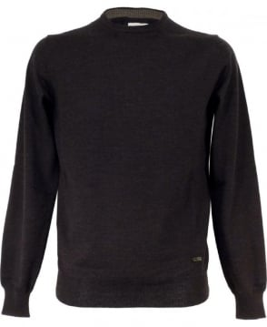 Armani Collezioni Charcoal Grey Crew Neck Jumper