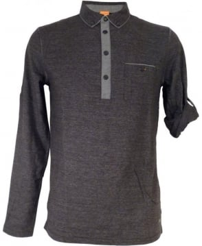 Hugo Boss Charcoal Grey 'Patcherman 1' Polo Shirt